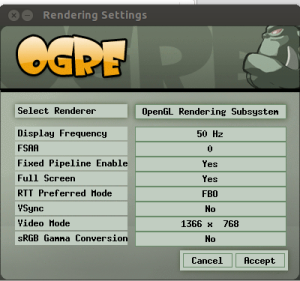 ogre rendering setting