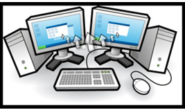 Gambar 2. Ilustrasi Parallel Processing dengan 2 Komputer